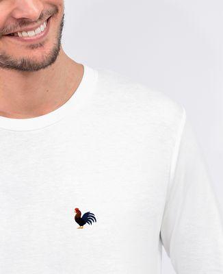 T-Shirt homme manches longues Coq (brodé)