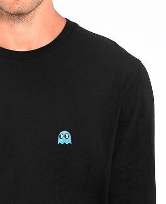 T-Shirt homme manches longues Fantôme jeux vidéo (Brodé)