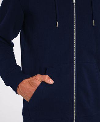Hoodie zippé homme Fusée (brodé)