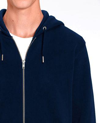 Hoodie zippé homme Tricolore brodé personnalisé