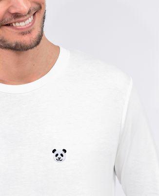 T-Shirt homme manches longues Panda (brodé)