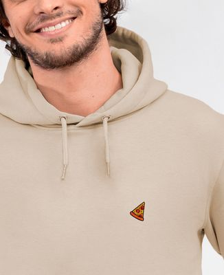 Hoodie homme Pizza (brodé)