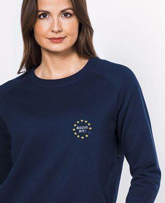 Sweatshirt femme Bisous bye ! (brodé) 🇪🇺