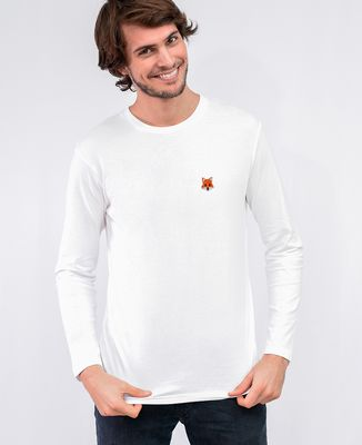 T-Shirt homme manches longues Renard (brodé)