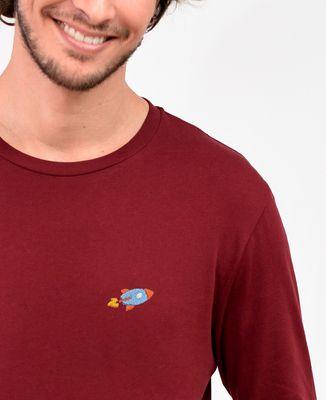 T-Shirt homme manches longues Fusée (brodé)