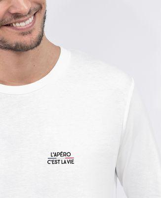 T-Shirt homme manches longues L'apéro c'est la vie (brodé)