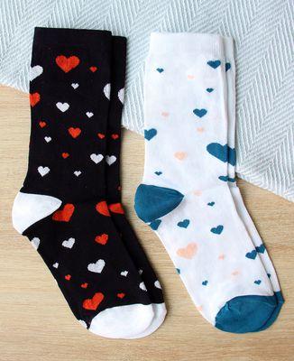 Coffret Duo de chaussettes L'amour est dans le pied