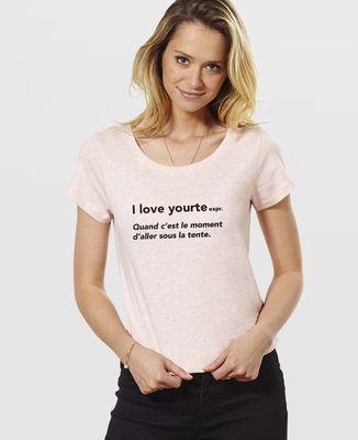 T-Shirt femme I love yourte
