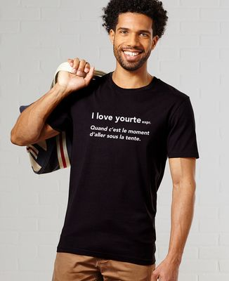 T-Shirt homme I love yourte