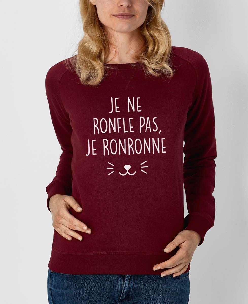 Sweatshirt femme Je ne ronfle pas