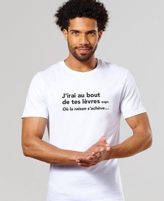 T-Shirt homme J'irai au bout de tes lèvres