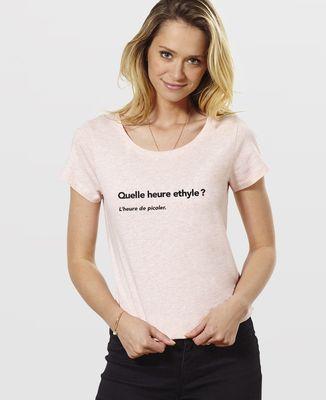 T-Shirt femme Quelle heure ethyle ?