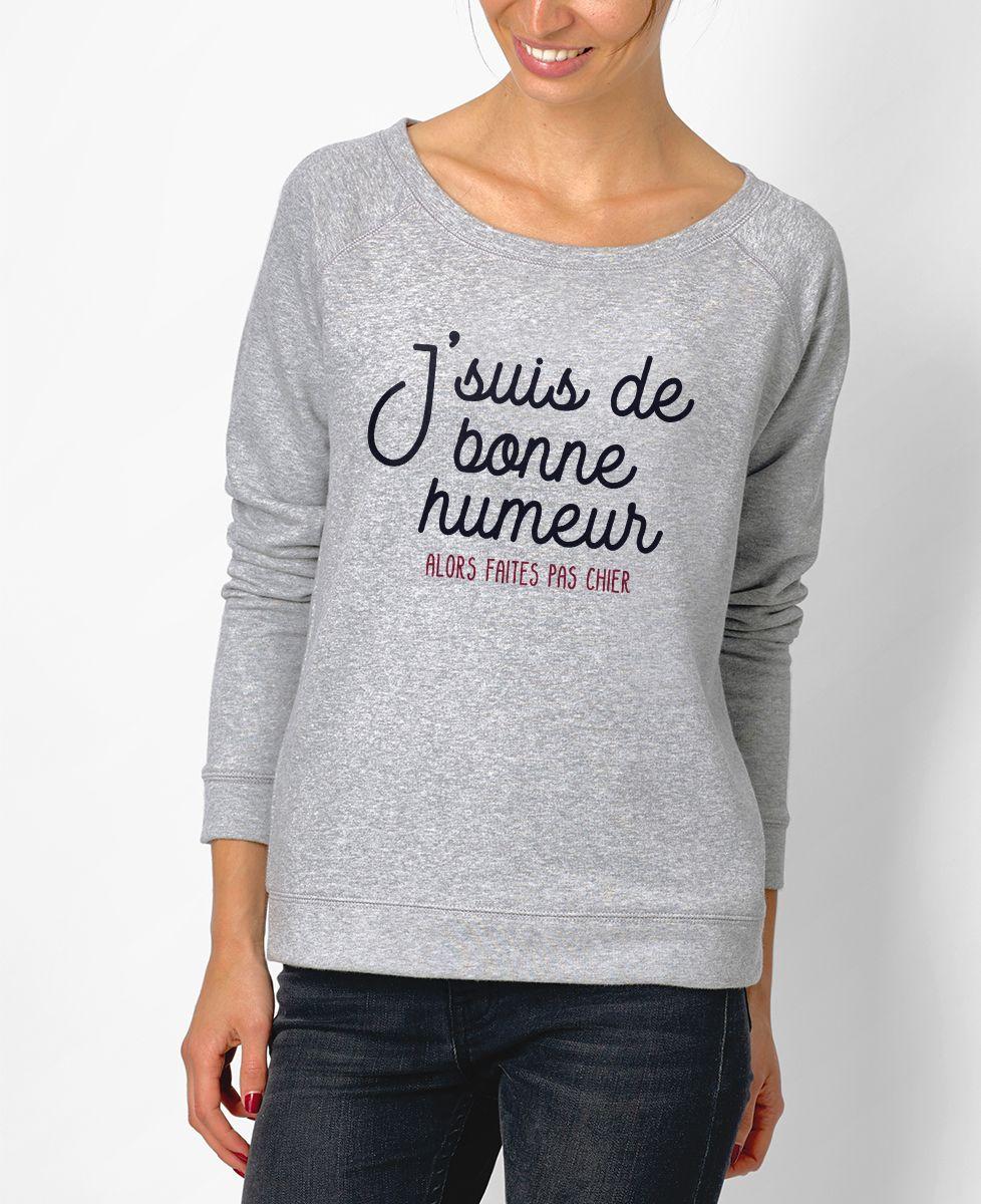 Sweatshirt femme De bonne humeur