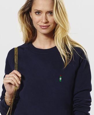 Sweatshirt femme Bouteille de vin (brodé)