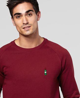 Sweatshirt homme Bouteille de vin (brodé)