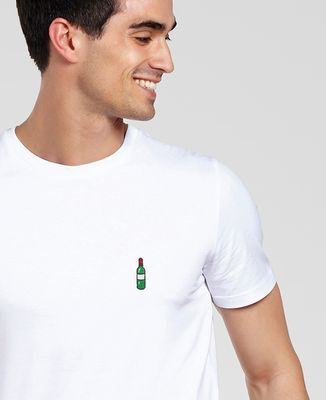 T-Shirt homme Bouteille de vin (brodé)