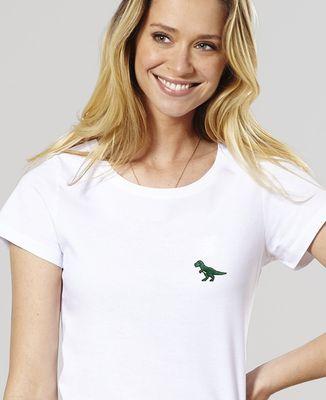 T-Shirt femme T-Rex (brodé)