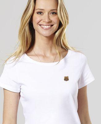 T-Shirt femme Ours (brodé)