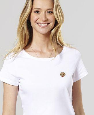 T-Shirt femme Chien (brodé)