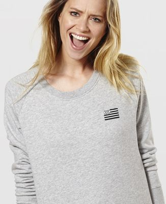 Sweatshirt femme Drapeau Breton (brodé)