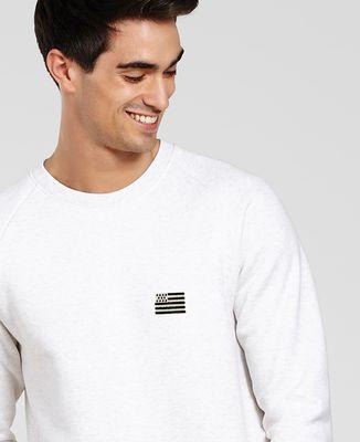 Sweatshirt homme Drapeau Breton (brodé)