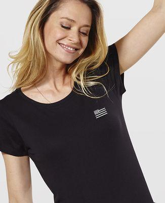 T-Shirt femme Drapeau Breton (brodé)