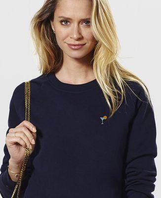 Sweatshirt femme Cocktail (brodé)