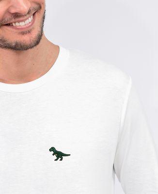 T-Shirt homme manches longues T-Rex (brodé)