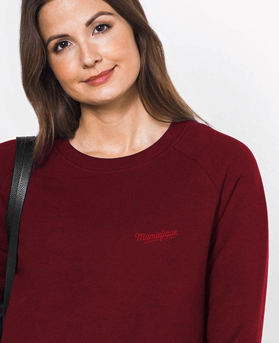 Sweatshirt femme Mamiefique (brodé)