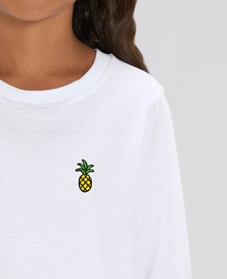 T-Shirt enfant manches longues Ananas (brodé)