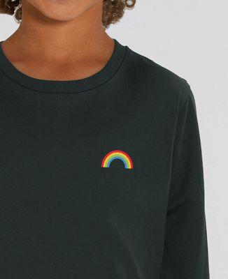 T-Shirt enfant manches longues Arc en ciel (brodé)