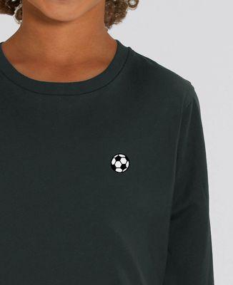 T-Shirt enfant manches longues Ballon de foot (brodé)