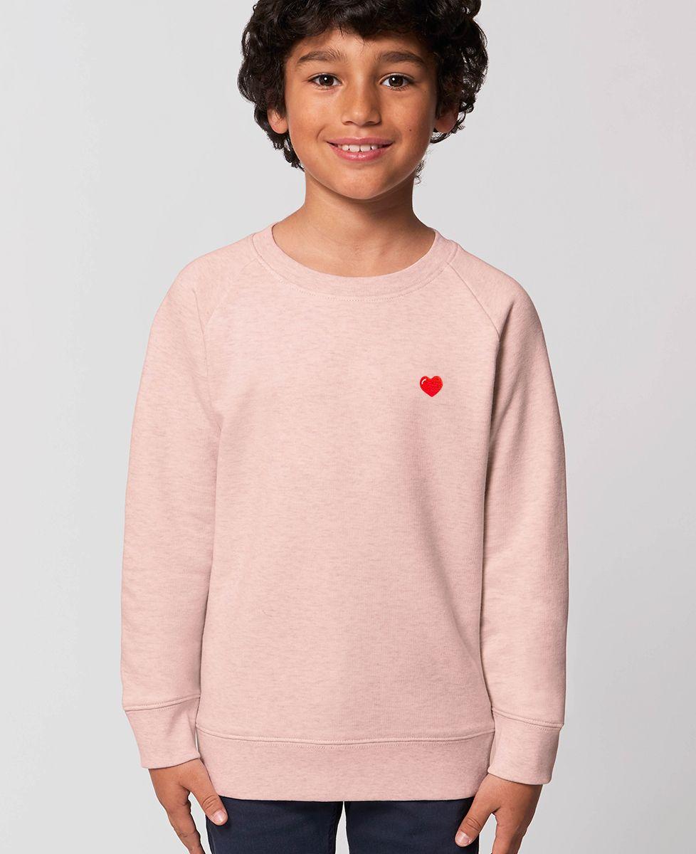 Sweatshirt enfant Coeur (brodé)