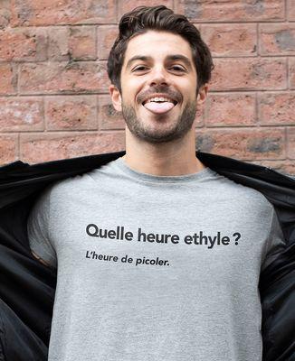 T-Shirt homme Quelle heure ethyle ?