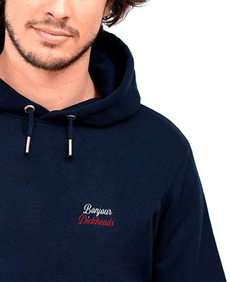 Hoodie homme Bonjour Dickheads (brodé)