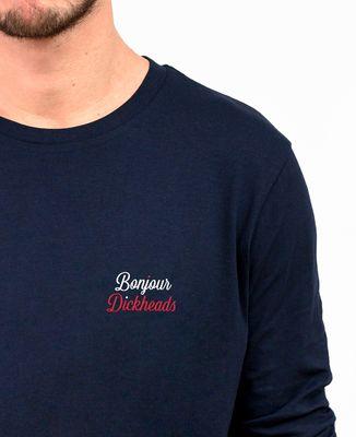 T-Shirt homme manches longues Bonjour Dickheads (brodé)