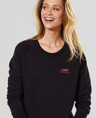 Sweatshirt femme Je speak Franglais (brodé)