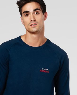 Sweatshirt homme Je speak Franglais (brodé)