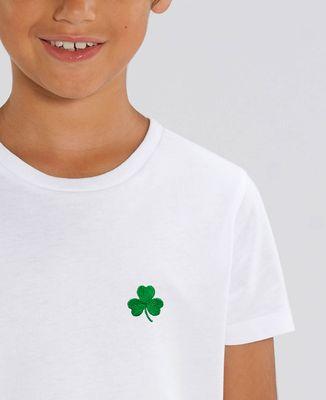 T-Shirt enfant Trèfle Irlande Saint-Patrick (brodé)