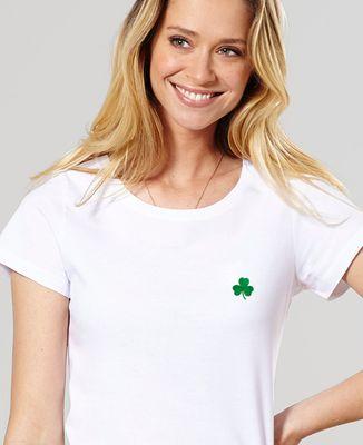 T-Shirt femme Trèfle Irlande Saint-Patrick (brodé)