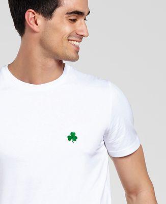 T-Shirt homme Trèfle Irlande Saint-Patrick (brodé)