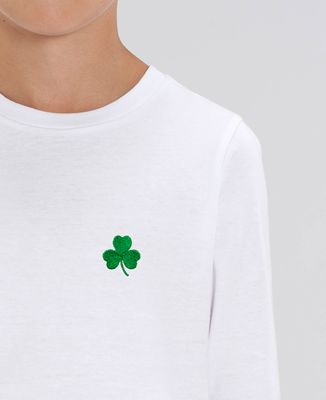 T-Shirt enfant manches longues Trèfle Irlande Saint-Patrick (brodé)
