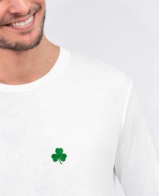 T-Shirt homme manches longues Trèfle Irlande Saint-Patrick (brodé)