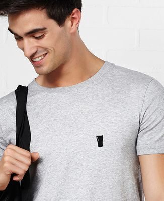 T-Shirt homme Pinte de brune (brodé)