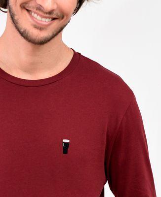 T-Shirt homme manches longues Pinte de brune (brodé)