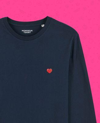 T-Shirt homme manches longues Coeur (brodé)