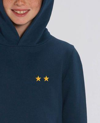 Hoodie enfant Deux étoiles (brodé)
