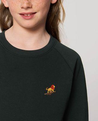 Sweatshirt enfant Lion rocher (brodé)