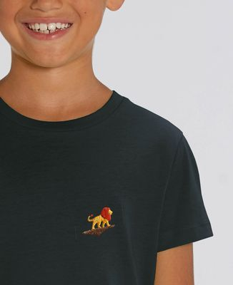 T-Shirt enfant Lion rocher (brodé)