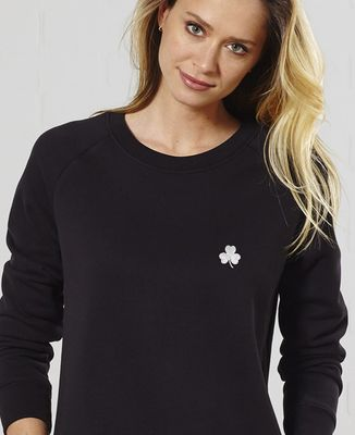 Sweatshirt femme Trèfle Irlande Saint-Patrick (brodé)